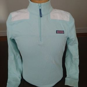 Vineyard Vines Womens Turquoise 1/4 Zip Small